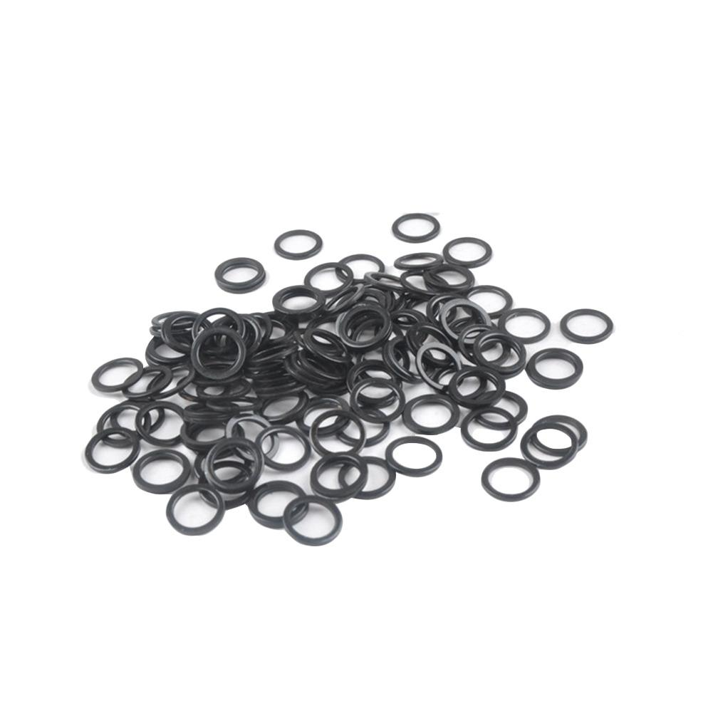 50pcs Screw Gasket Skateboard Support Accessory Fish Board Bearing Shim Aluminum O-Ring Black Washers for Longboard Cruiser
