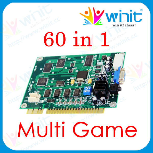 60 in 1 Multi Game PCB Casino Cocktail Arcade Parts Cabinet Multigame Jamma Board DIY Classical Game Kit For Table Top Machine diy arcade game kit jamma game pcb 60 in 1 28pin wire harness power supply for crt lcd 60 in 1 arcade video game machine