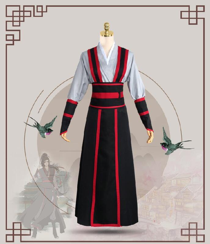 Mo Dao Zu Shi Wei Wuxian Young Cosplay Grandmaster of Demonic Cultivation Cosplay Costume Wei Wuxian Costume Unisex