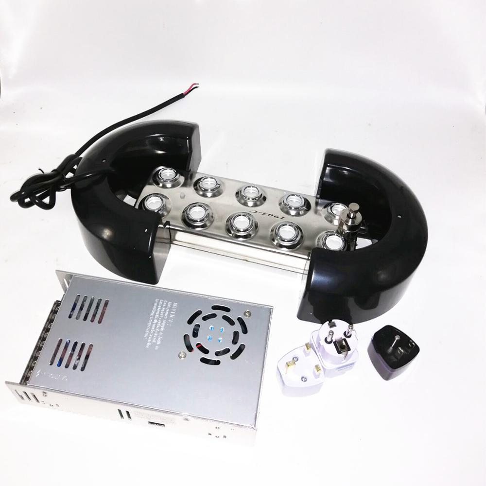 5Kg H Ultrasonic Mist Maker 10 Head Fogger Humidifier Sprayer Industry One Set Humidifier One Float