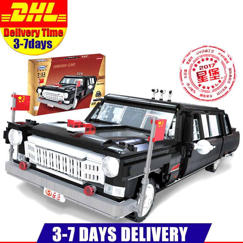цена DHL LEPIN XINBAO 03003 Block Creative MOC Technic Series The HongQi Master Car Set Building Blocks Bricks Model Toys