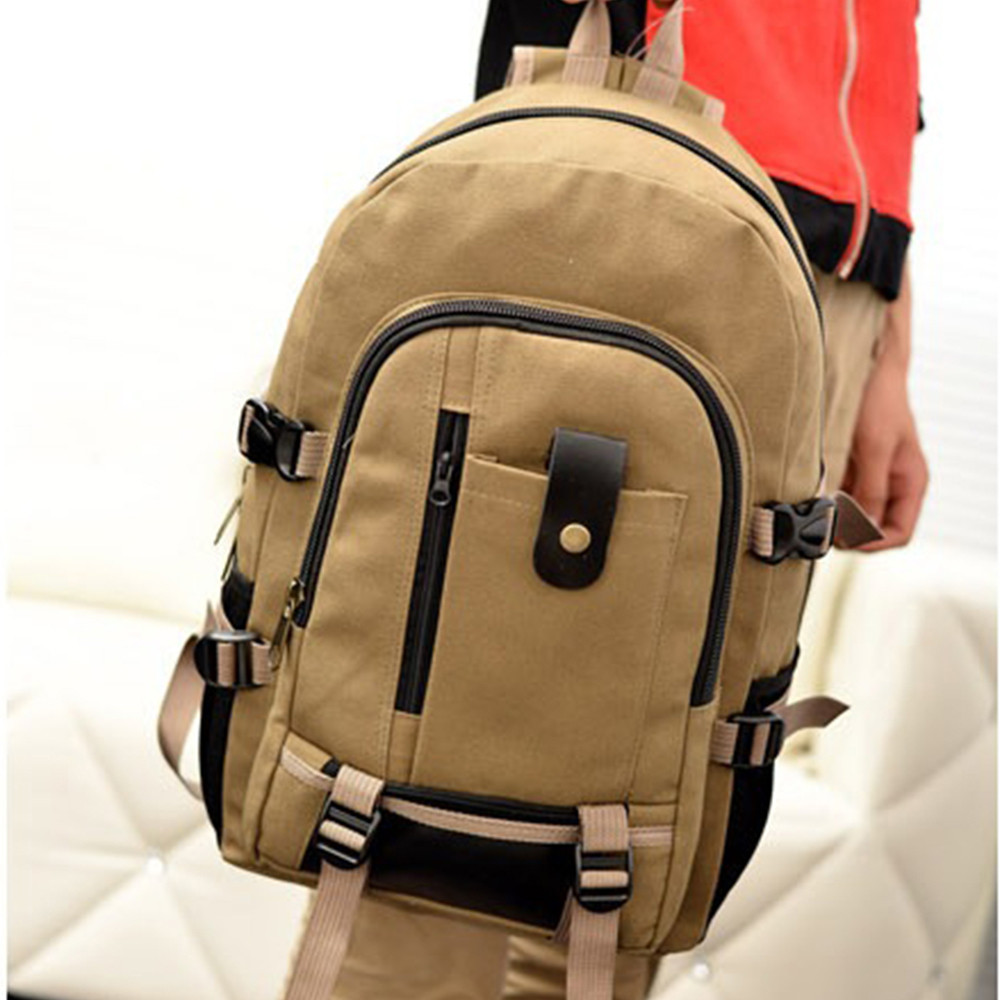 Backpack Solid Canvas Vintage Design Travel Shoulder Bag Men Women Shouider Strap Casual Bagpack School Bag Mochila HWBackpack Solid Canvas Vintage Design Travel Shoulder Bag Men Women Shouider Strap Casual Bagpack School Bag Mochila HW
