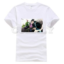 2019 New T-shirt Jojo Bizarre Adventure Thsirt Japan Anime Cartoon Black And White Summer Dress Men Tee Cotton Funny T Shirt