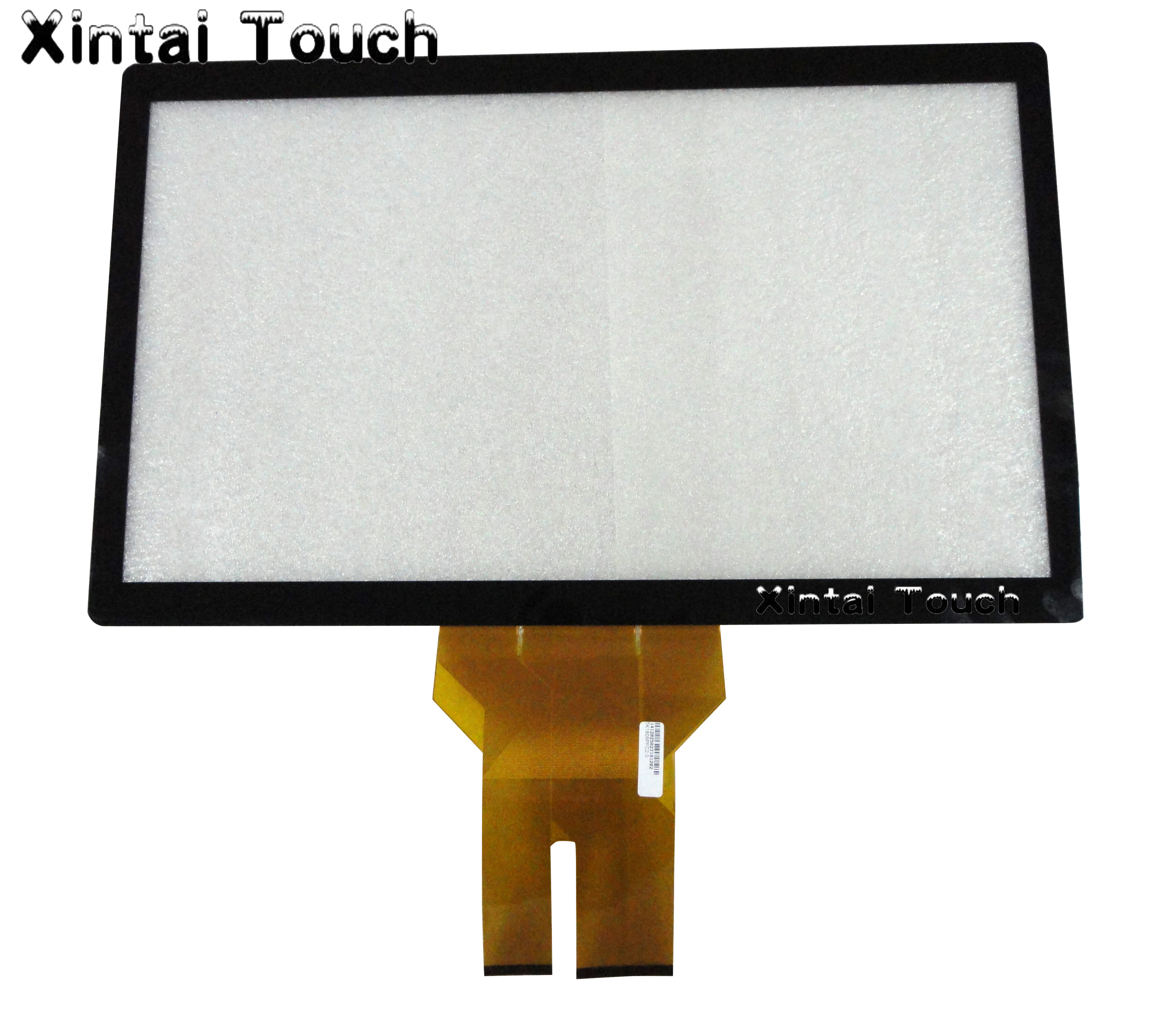 18.5 inch cheap Multi capacitive touch screen with glass/ capacitive touch screen overlay panel kit for touch table, kiosk etc