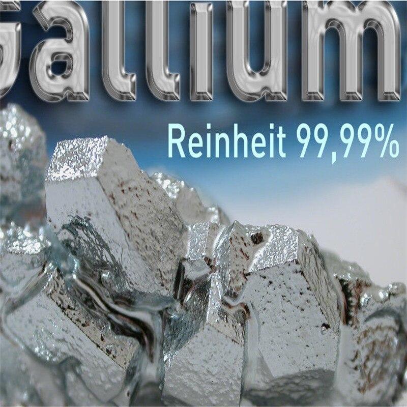 Free Shipping Gallium metal 99 99% Purity10g 20g 50g 100g Gallium Element Low Melting Point Metal Educational Magician Diy Toy