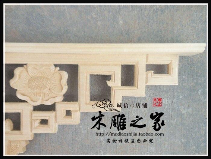 Dongyang houtsnijwerk bloem applique latei beam gun hoek plafond