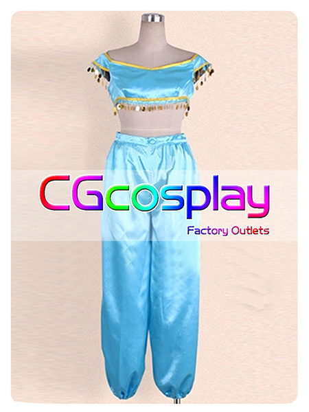 Free Shipping Cosplay Costume Aladdin Princess Jasmine New in Stock Retail / Wholesale Halloween Christmas Party Any Size