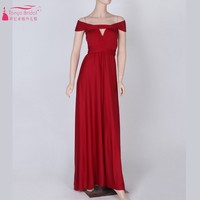 New Style Convertible Dress Long Style Simple Prom Evening Gown Special Occasion Dresses Spandex With Elastic