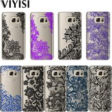 Cute  Lace Phone case For Samsung Galaxy S8 S9 Plus Case Sexy Mandala Floral Cover J7 J5 J3 A5 A3 2016 2017 S6 S7 Edge Coque case for samsung galaxy a7 2018 s8 s9 s10 plus s7 edge j3 j5 j7 a3 a5 2017 2016 a8 plus liquid glitter quicksand soft tpu case