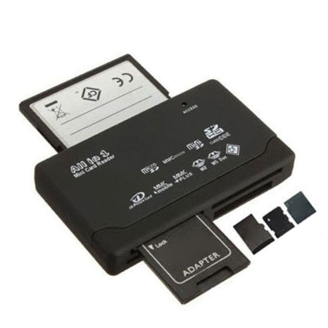 All In One Card Reader USB 2.0 SD Card Reader Adapter Support TF CF SD Mini SD SDHC MMC MS XD 4