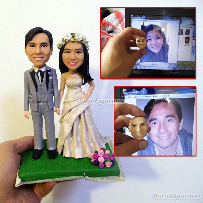 ooak artist original polymer clay art doll sculpture nude doll custom handmade crafted wedding gift couple present anniversary in Party Favors from Home Garden