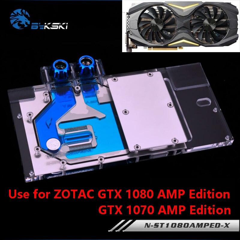 Bykski フルカバー ZOTAC グラフィックスカードブロック使用 GTX1080/1070TI/1070 アンペア版 8 ギガバイト GDDR5 (ZT P10800B 10P) RGB ラジエーターブロック  グループ上の パソコン & オフィス からの ファン & 冷却 の中 1