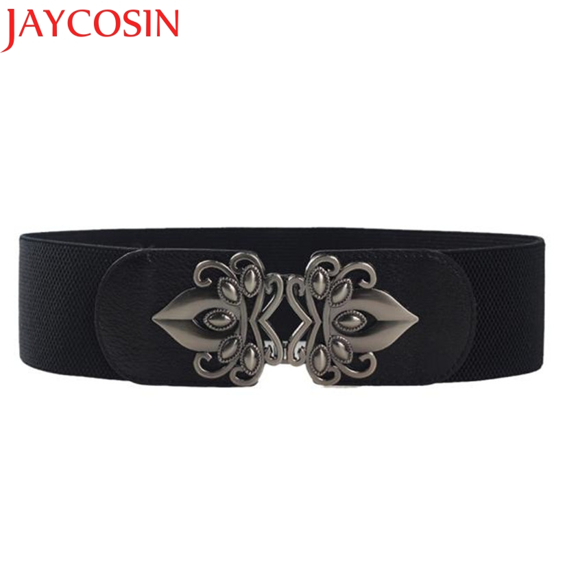 JAYCOSIN New Fashion Women's Fashion Metal Buckle Strap Elastic Waist Belt Dec25 Drop Shipping