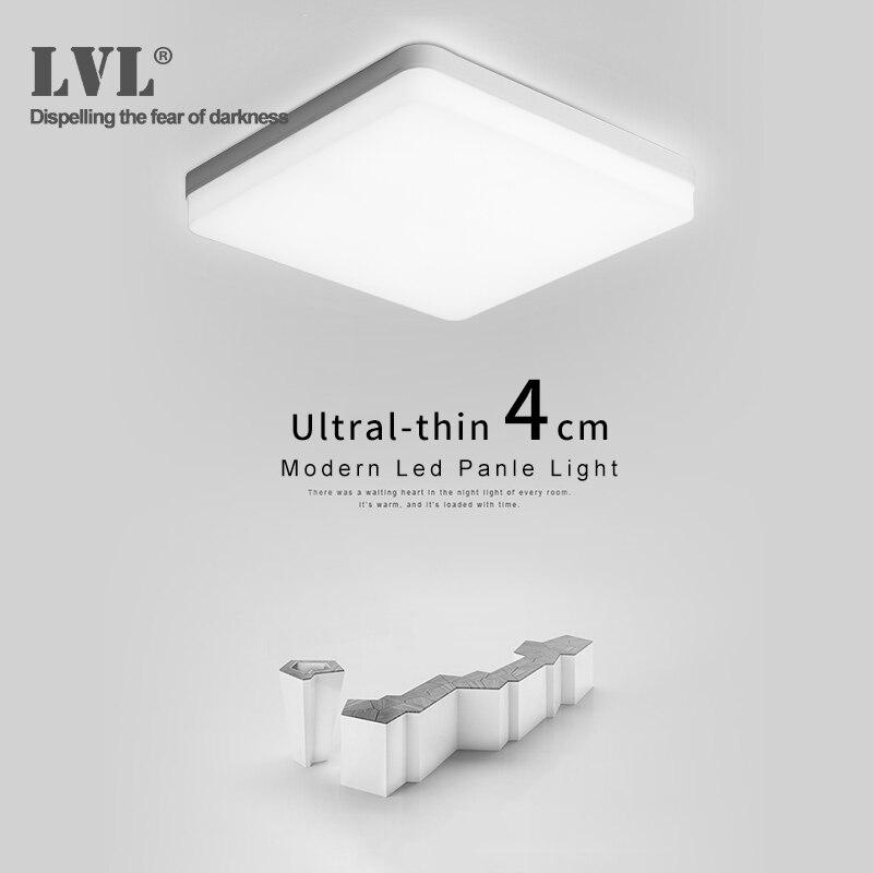 Panel de luz Led 18W 24W 36W 48W 220Vac 3000K 6000K habitación iluminación interior Panel de techo de luz Led