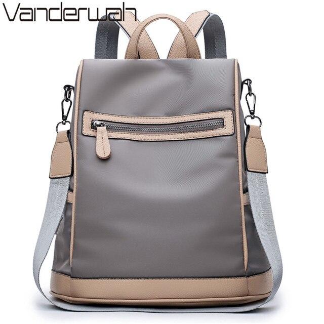 781d8790571 Элегантный дизайн, женский рюкзак, ткань Оксфорд, водонепроницаемые Рюкзаки,  женские школьные сумки на