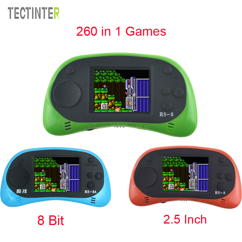 RS-8A Video Game Console 8 Bit 2.5 inch Handheld Game Player Support TV Output Best Gift For Kids