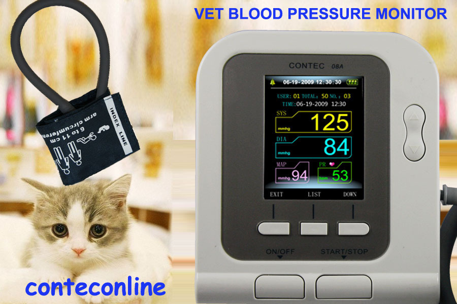 Veterinary Vet Digital Blood Pressure HR / NIBP Monitor Vet NIBP Monitor 08A цена