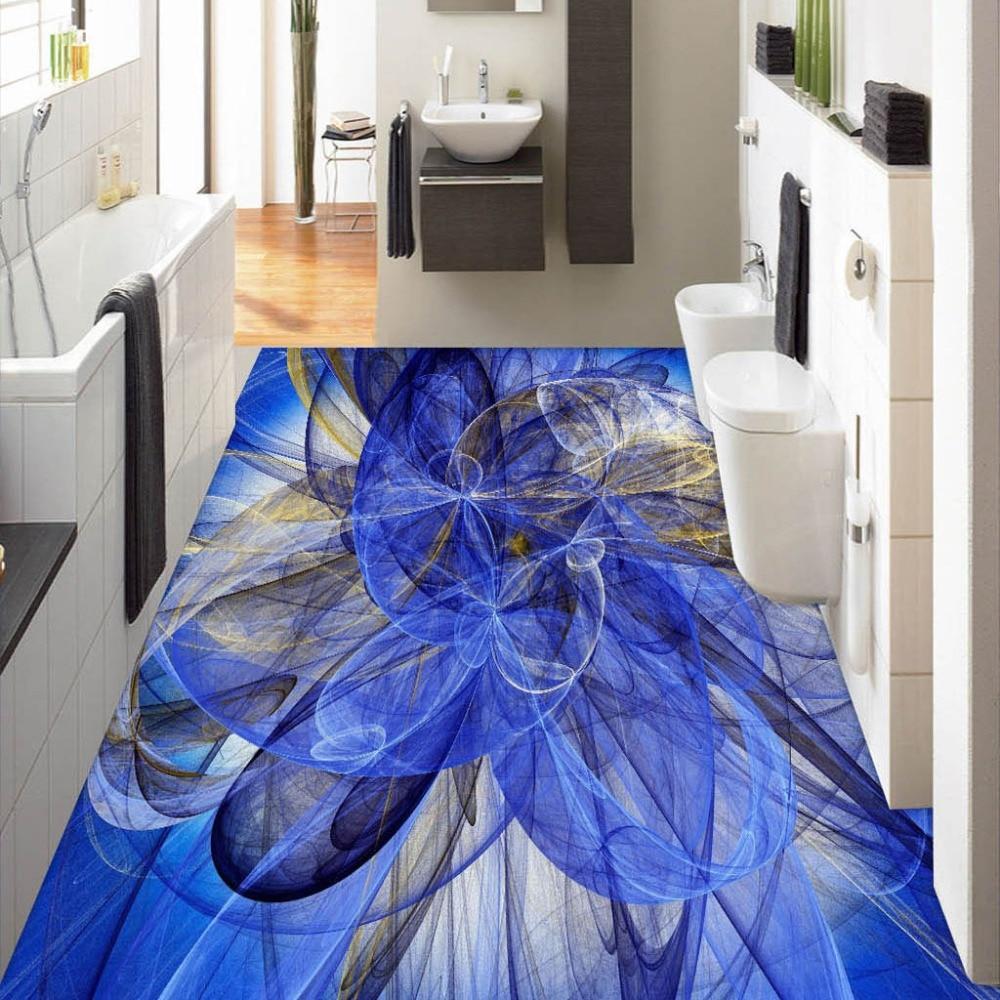 Custom 3D Floor Wallpaper Modern 3D Geometric Abstract Art
