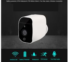 1080P   IR  vision outdoor IP bullet cameras  with  battery  power  supply   PIR motion detection / Push alarm  wireless camera