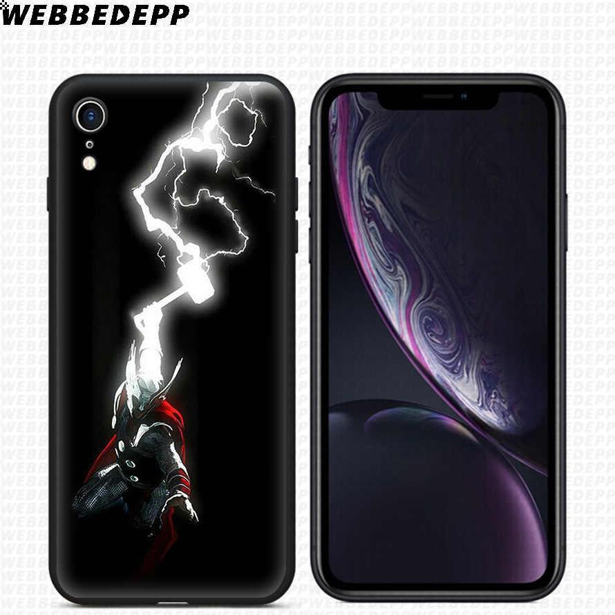 Мягкий силиконовый чехол WEBBEDEPP Thunder Thor GOD для iPhone 11 Pro Xr Xs Max X или 10 8 7 6 6S Plus 5 5S SE чехол 8 Plus