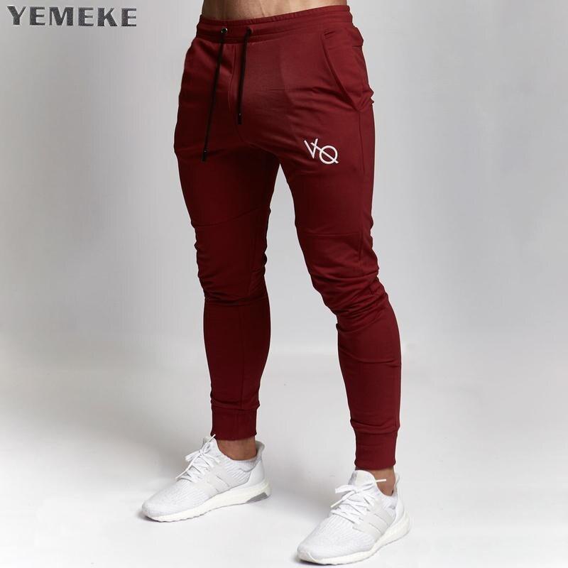 2018 nuevos gimnasios ropa en los pantalones de los hombres de moda Jogger pantalones Skinny casual pantalones de chándal de calidad superior