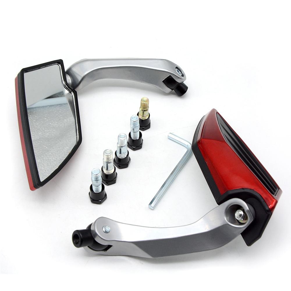 Motorcycle Rearview Mirror Spiegel 8//10mm For Honda Suzuki Kawasaki KTM BMW R AH