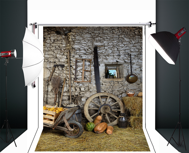 Ткань Фон Фотографии Ретро Фермы Инструменты Пользовательские Фото Prop Фоны Деревенском Фоне D-1660