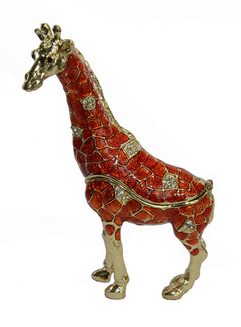2015 free shipping standing orange giraffe wild animal bejeweled