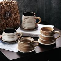 250ml/350ml Hand made Coffee Ceramic mugs Retro Japanese Mugs Creative Simple Milk Flower mugs Gifts