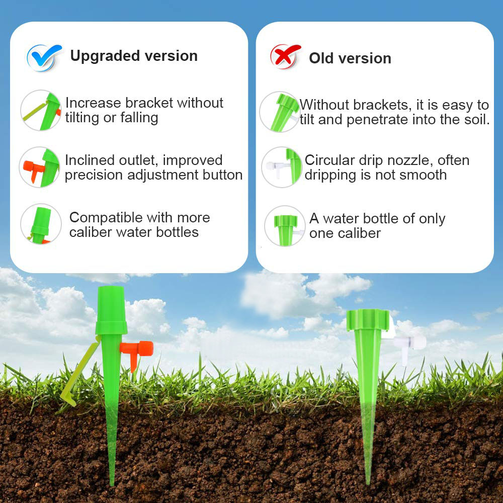 Image 5 - 10pcs New Watering Kits Self Automatic Plant Watering Spikes Adjustable Stakes Irrigation System Watering Device for Houseplant-in Watering Kits from Home & Garden