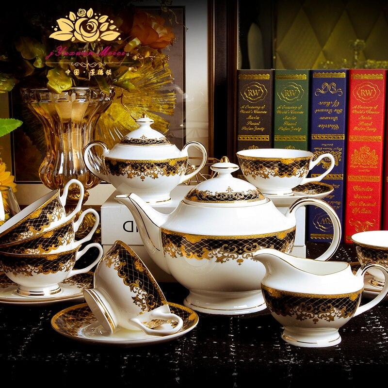 15 PIECES Bone china coffee cup European style tea ceramic English afternoon set