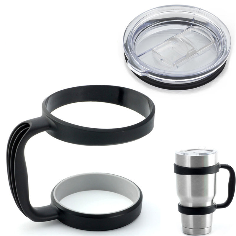 Portable Plastic <font><b>Cup</b></font> Mug Water Bottle Handle for <font><b>YETI</b></font> 30 Ounce Sic <font><b>Cup</b></font> Holder <font><b>Travel</b></font> <font><b>Rambler</b></font> <font><b>Tumbler</b></font> Drinkware with Free Lid