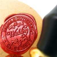 Customize Wax Stamp With Wedding Couple Name Date Logo Brass DIY Ancient Seal Retro Stamp Personalized
