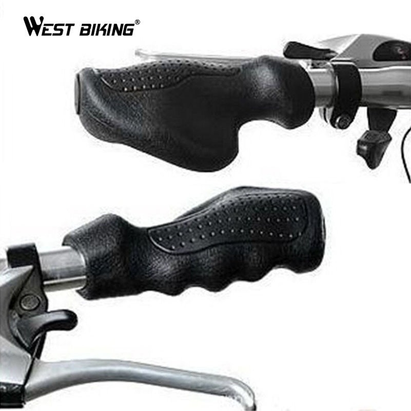 WEST BIKING Rubber Shock Absorber Bicycle Grips ...