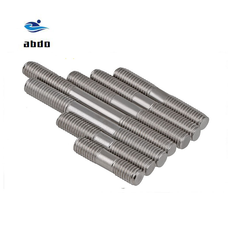 10pcs/lot  GB901 M3 M4 M5 M6 M8 M10*L double-headed screw double-headed bolt Stainless steel screws rods studs10pcs/lot  GB901 M3 M4 M5 M6 M8 M10*L double-headed screw double-headed bolt Stainless steel screws rods studs
