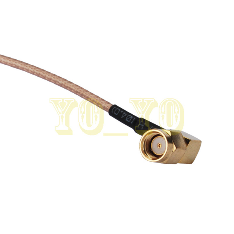 ALLISHOP RF coaxial coax cable assembly RP SMA male to RP SMA male right angle 15MALLISHOP RF coaxial coax cable assembly RP SMA male to RP SMA male right angle 15M