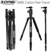 ZOMEI Z888C Профессиональный углеродного волокна путешествия штатив монопод подставка круглая головка с Сумка для DSLR камеры