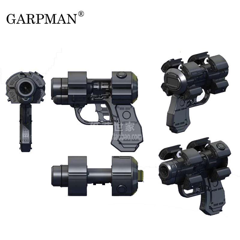20cm 1:1 Gantz Killing City X Gun Perspective Gun 3D Paper Model Toy