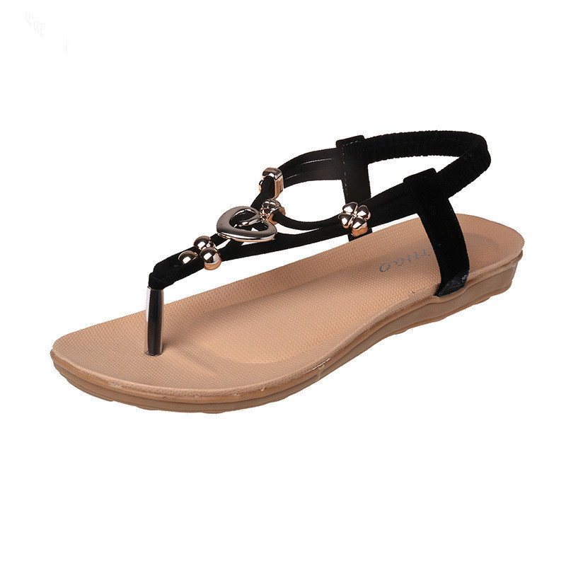 c1b386ba8a1 Aliexpress.com   Buy Free shipping !! summer 2016 Flip Flops Women s shoes  Bohemian girl sandal thong beaded metal buckles flip flops beach shoes from  ...