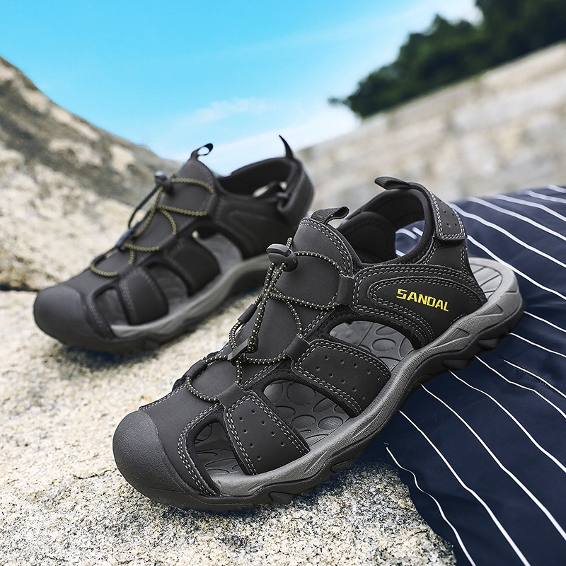 Male Sandals Casual-Shoes Comfortable Beach Summer Homme New Adult Man 12 Chaussure Plus-Size title=