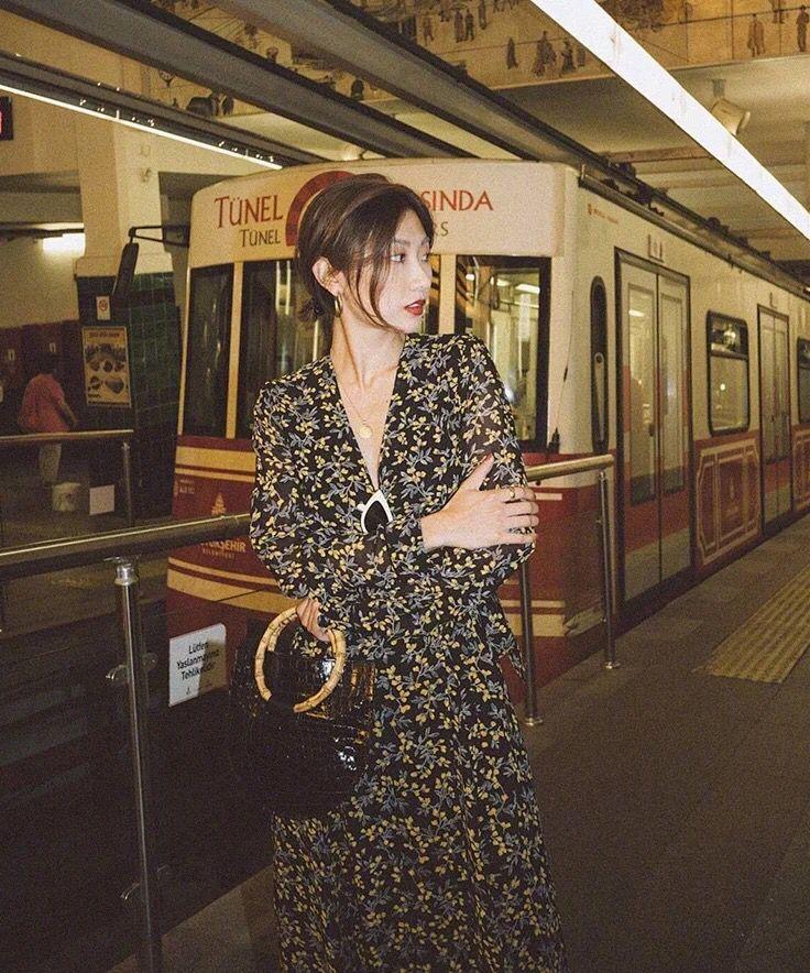 ผู้หญิงพิมพ์ดอกไม้ Maxi Wrap Dress แขนยาว V คอยาว Slim Dress-ใน ชุดเดรส จาก เสื้อผ้าสตรี บน   3