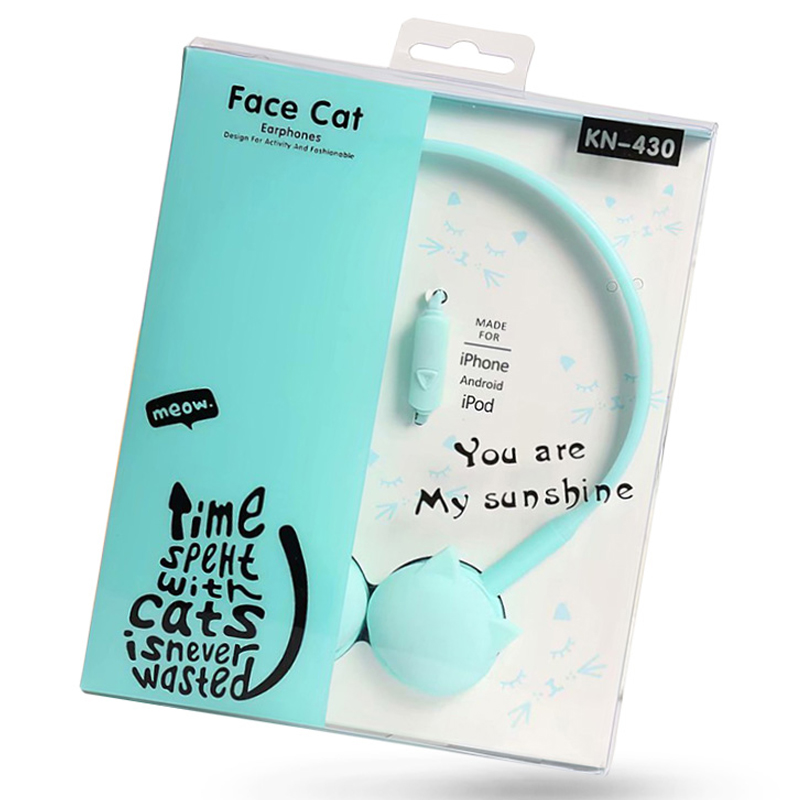 Birthday Gifts Cute Cat Colored Headphones Stereo With