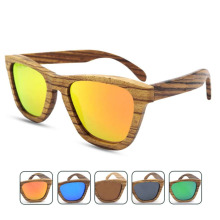 Environmental Protecting Polarized Fashion Retro Unisex New Sunglasses Zebra Wooden Multi Color Sunglasses UV400 Round Eyewear