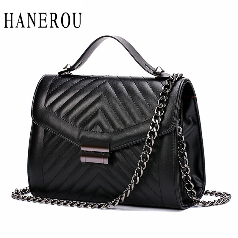 Small Quilted Chain Bag Women's Handbags Clutches 2017 Fashion Flap Leather Messenger Bag Women Ladies Shoulder Bags Sac A Main