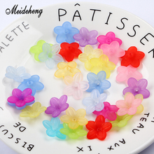 Meideheng Plastic Acrylic Translucent Dull Polish flowers Beads Fit Jewelry Handmade Tiaras DIY Craft Accessories 22mm 60PCS/bag