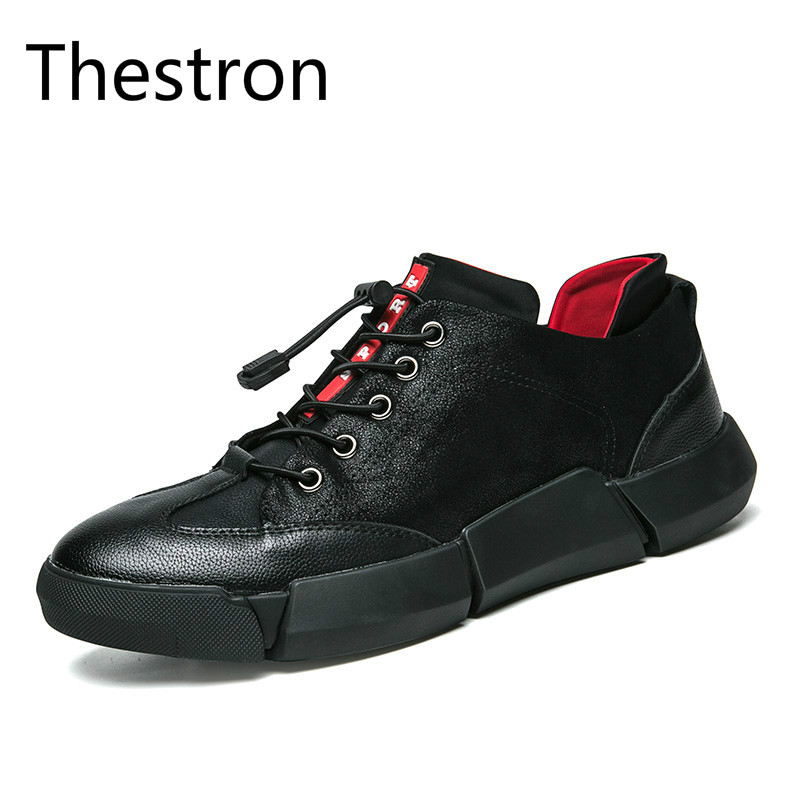 Thestron Men Shoes Casual Sneakers Mens Shoes Genuine Leather Fashion 2018 New Male Shoes Designer Casual Men Sport Brand Good
