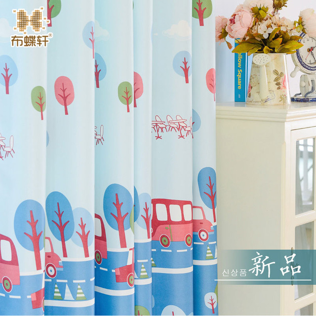 Baby Room Window Curtains For Living Sky Blue Custom Size Blackout Drapes