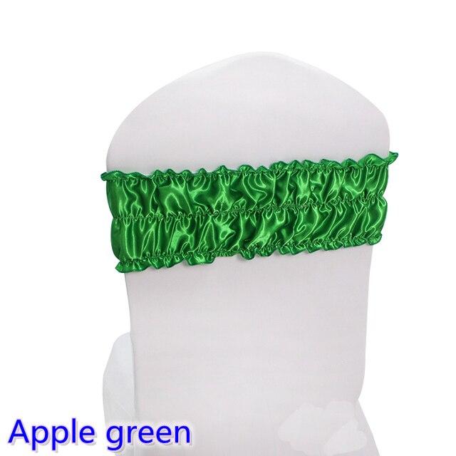 Apple green colour satin chair sash wedding decoration lycra spandex apple green colour satin chair sash wedding decoration lycra spandex sash fit all chairs ruffled bubble junglespirit Images