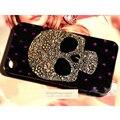 Милые Металла Череп Bling Диаманта Rhinestone Телефон Случаях Coque Обложка для iPhone 5s SE 6 s 7 Plus для Samsung S 5 6 7 Примечание J случае