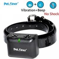 Petrainer Pet Dog Automatic Anti Bark Stop Collar Rechargeable Waterproof Training Auto Vibration Beep No Shock Collar PET850N